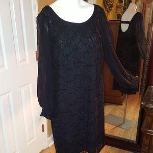 Collections Dressbarn black shimmer dress size 18